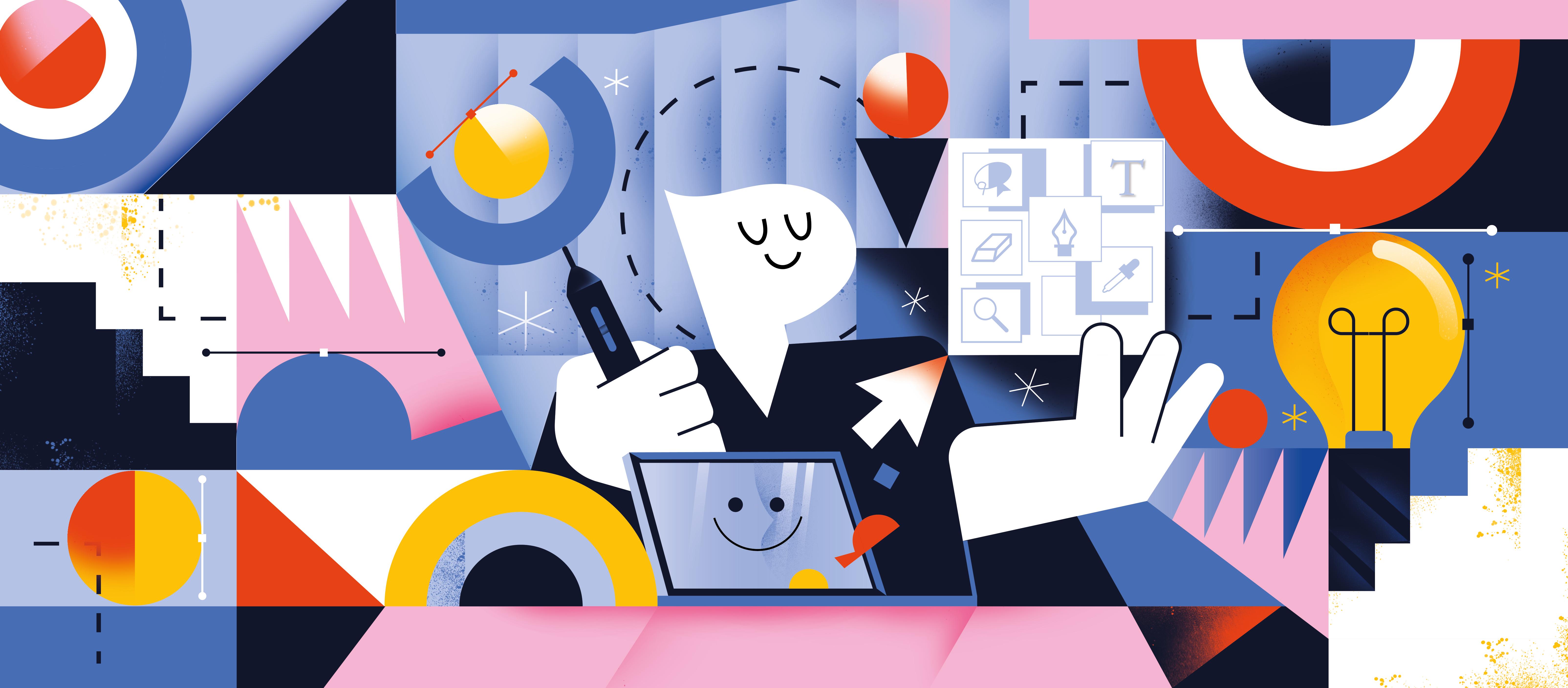 Super Hi ! Blog Illustrations